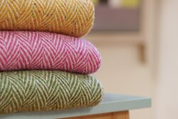 Eddie Doherty handwoven throws made in Co.Donegal
