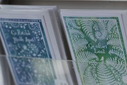 Illustrated cards from the Gaeltacht just across Ardmore Bay in An Rinn