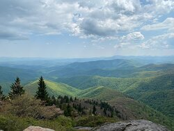 View from summit at Devil's Courthouse