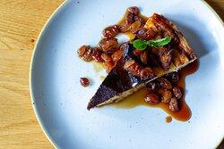 Basque burnt cheesecake at Ambiente tapas restaurant Leeds