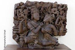 UMA- MAHASHWER ruined Fine carved sculpture 11th Century. Rani Durgawati Museum , Jabalpur, M.P. india