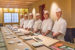 Shinji Restaurant Staff at Carlton Hotel Singapore