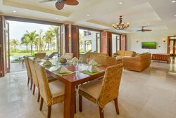 Dining Area - Four Bedroom Beachfront Villa with Private Pool
