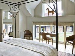 Coworth Park Stable Premium Suite Fairway Bedroom