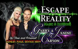 Evening Of Illusions As You 'Escape Reality' With The Magic Dinner Show Of Garry & Janine Carson!