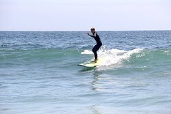 Brayden's Surfing Lesson in Laguna Beach California with Goff Tours. 5-29-21