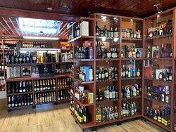 The rum & cognac area