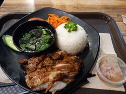 Delicious grilled lemongrass chicken with broken rice