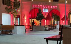 The restaurant is located at the square close to the circle in the city centre of Wadi Musa. You can enjoy your food outside on the square, inside or get it delivered at your home.