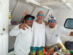 Tres Hombres - Manny, hubbie Carl, and Omar! Such a fun crew!
