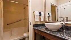 ADA Guest Bathroom Walk in Shower