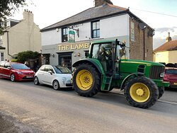A real country pub - parking available for tractors and friday nights, a real stone baked pizza!