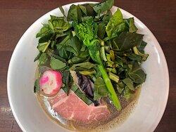 鯖煮節らぁめん with 青菜