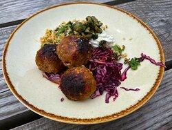 Welsh lamb meatballs with harissa