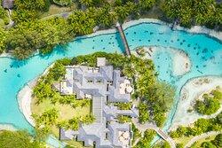 Aerial Spa island