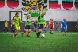 Kids drop in football. Saturday mornings