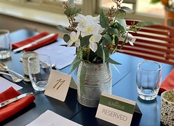 Table settings at the Glasshouse