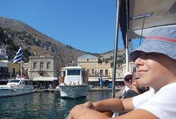 Sailing from Symi Harbor
