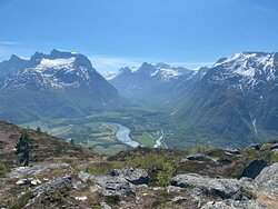 Spectacular view to Romsdalsfjord.