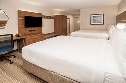 Spacious  Two Queen Bed with HSIA WIFI, Work Desk, and HDTV.