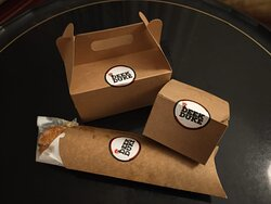 The Deek Duke food arrived in these nice boxes.