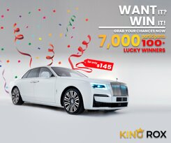 Have you ever dreamed to drive a luxury car? If yes, try your luck with great odds of 95% win rate Shop Now & Grab your Rolls-Royce Sign Up with this lucky link and enjoy a 3% discount for 3 months https://www.kingrox.com/signup?ref=E2B9FB5474