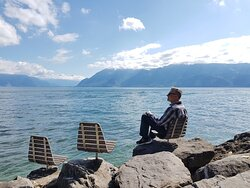 Soaking in the scenery at Lac Léman