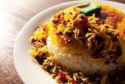 Fluffy saffron rice