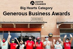 Tso is honored by the recognition from the Austin Chamber as a 2021 Generous Business Honoree in the Big Heart Category.  As a Public Benefit Corporation, Tso is committed to making a difference in the communities that support us.