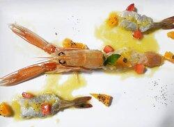 Shrimp crudo