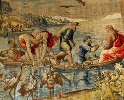 Mantova Palazzo Ducale La Pesca Miracolosa Cartoni Raffaello e Bottega