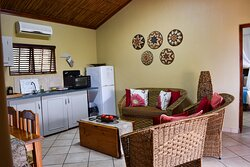 Warthog Alley Self-Catering unit kitchenette/lounge