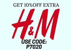 H&M coupon code Get extra 10% Off everything