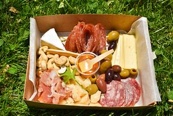 Welcome! We offer a variety of pre-curated charcuterie boxes, or you can make your own with 3 meats, 3 cheeses and 3 sides!