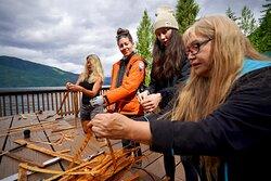 Cedar Weaving with our Cultural Interpreter's