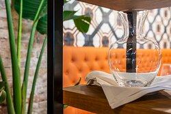 Diversos salones para comer y/o cenar. Y cada uno con su diseño particular.  #BilbaoRestaurante