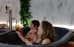 Beer spa day with friends