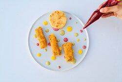 Milanese Bacco 2.0 servita con tortino di patate (foto Matteo Beltrama)
