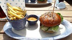 Veggie Burger with Mustard Dressing