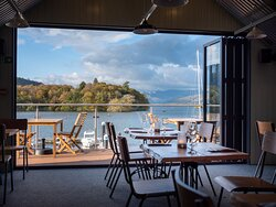 The amazing view from our upstairs dining area