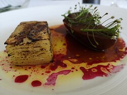 Delicate beef with young beetroots and young potatoes gratin.