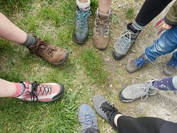 Well equipped for the Táin Trail walk