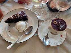Dessert - Chocolate Fudge Cake and Tiramisu