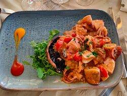 Sweet chili calamari.