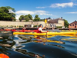 Guided kayak tour in the Stockholm Archipelago, Vaxholm