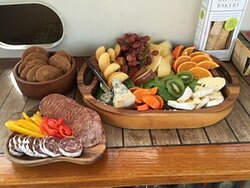 catering by request, all local, fresh and organic