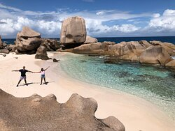 Hiking Tours on La Digue island Seychelles with Sunny Trail Guide.