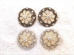 gioielli a Firenze, www.massaiorafi.com, orecchini in oro  18 kt , traforati a mano, con diamanti