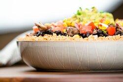 Our delicious Steak Burrito Bowl