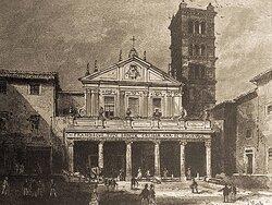 Una vecchia stampa della chiesa (dal web)